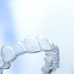 Close-up of a clear aligner used for ClearCorrect in Accra, Ghana