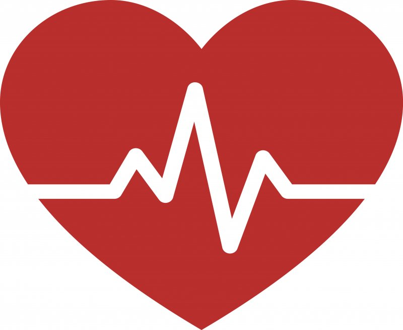 Heart with heartbeat pulse to symbolize heart disease